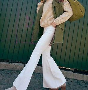 White s28 flare jeans Reitman